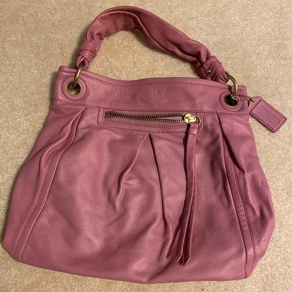 Coach Handbags - Pink Leather Coach Bag